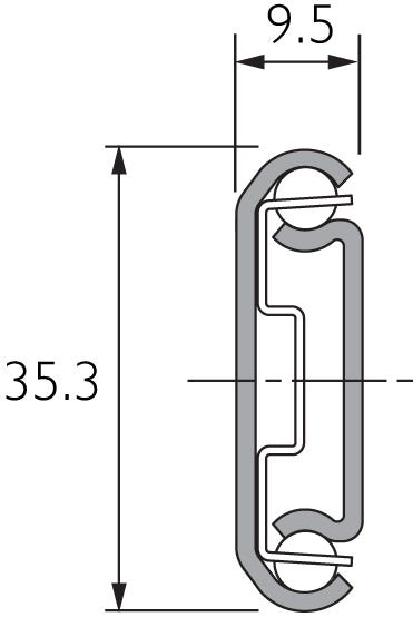 Two-Way Travel Drawer Slide Double Extension DZ2026