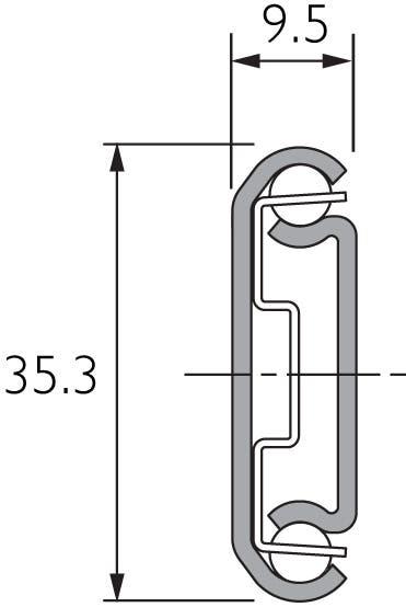 Zweiwege-Teilauszug-Teleskopschiene DZ2026