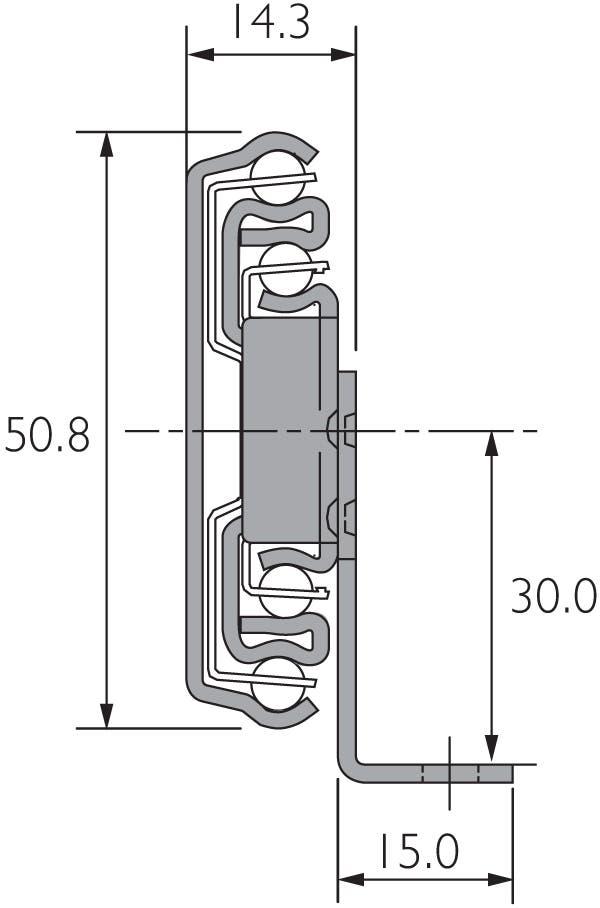 Schiene mit Winkel an Schiene zur Bodenmontage, DZ3301-60