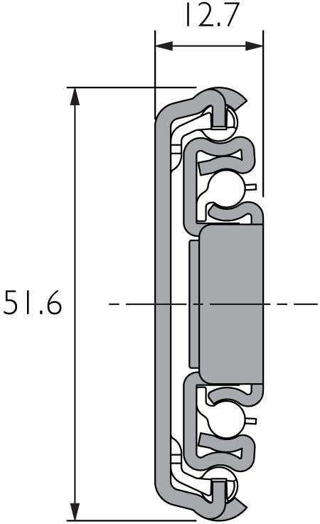 Auszugsschiene für mittlere Belastungen DZ3507