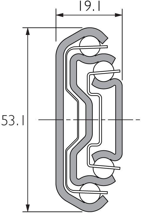 Auszugsschiene für hohe Belastungen DZ3607-2