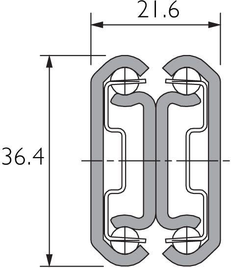 Two-Way Travel Full Extension Drawer Slide Black DB3630