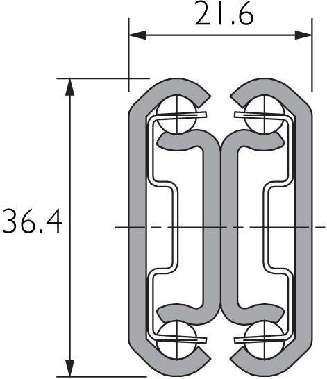 Two-Way Travel Full Extension Drawer Slide DZ3630