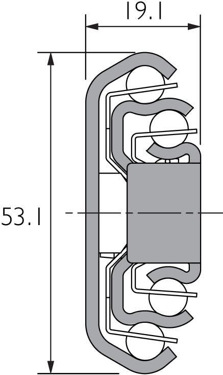 Auszugsschiene für hohe Belastungen und breite Schubladen DZ3657-2