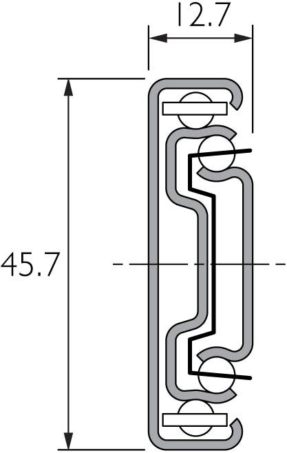 Light Duty Full Extension Cabinet Drawer Slide Black DB3832
