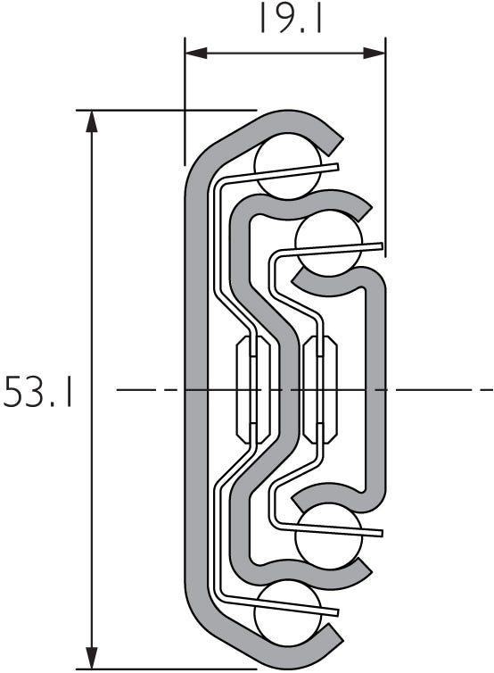 Guía de cierre suave para cajones anchos DZ5321-EC