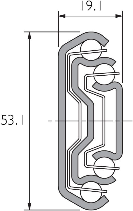 Guía de servicio pesado de cierre automático DZ5321-SC