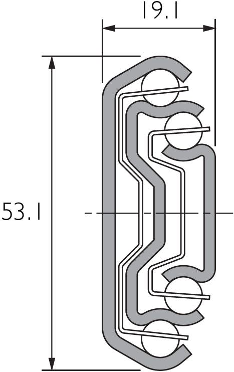 Self Close Heavy Duty Slide DZ5321-SC