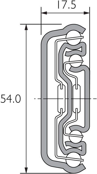 Guía de extensión completa de servicio medio y cierre suave DZ5417-EC