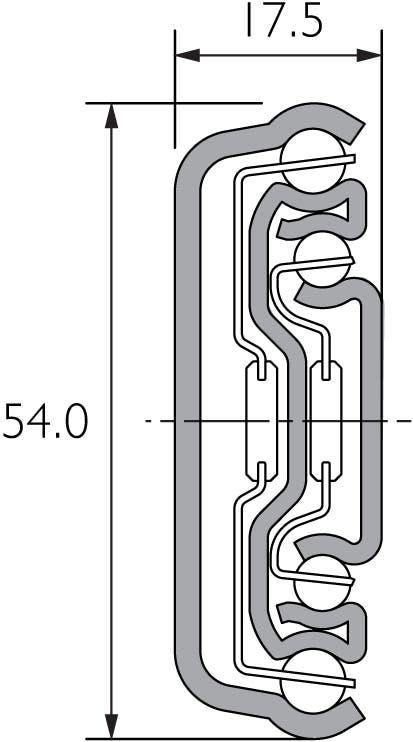 Soft Close Medium Duty Full Extension Slide DZ5417-EC