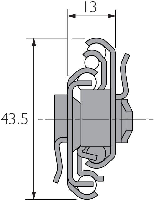 Self Close Slide with Bayonet Mounting DZ7400-SC-2