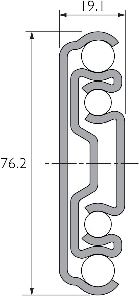 Korrosionsbeständige Schwerlast-Teleskopschiene DP9301