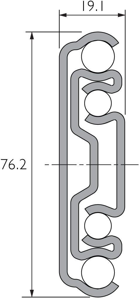 Heavy Duty Full-Extension Drawer Slide DZ9301-U-E