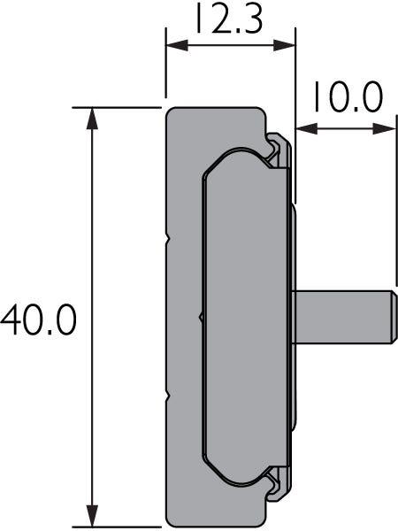 Pista de movimiento lineal con carro de bolas de recirculación DA0115-RC
