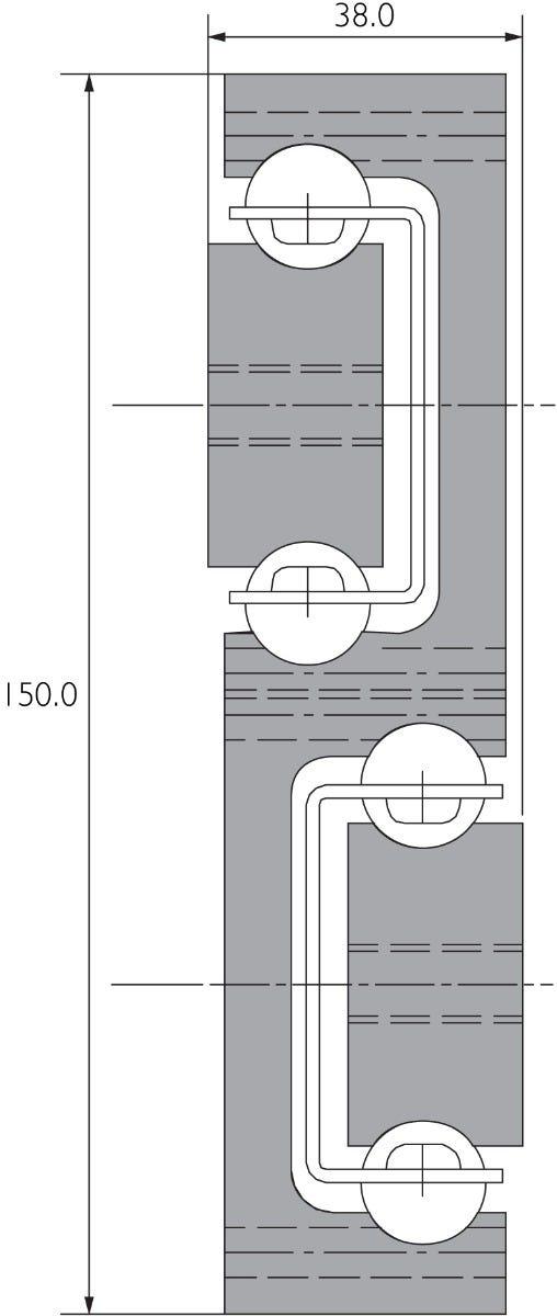 Guía de aluminio de extensión total de servicio extrapesado DA4140