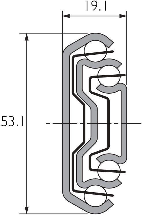 Guía telescópica de aluminio DA5321