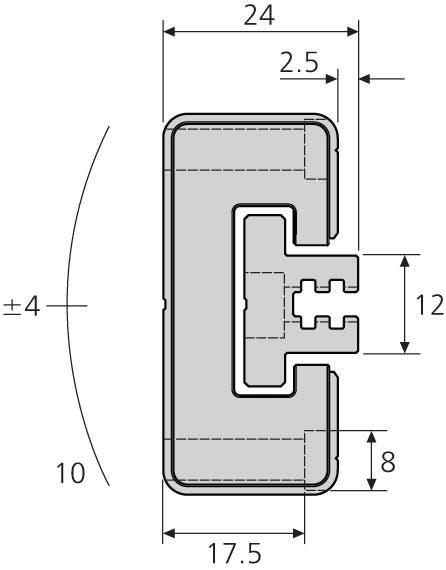 Gleitführung, selbsteinstellende Variante DFG115-CASSAA