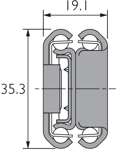 Guía telescópica de acero inoxidable DS3031