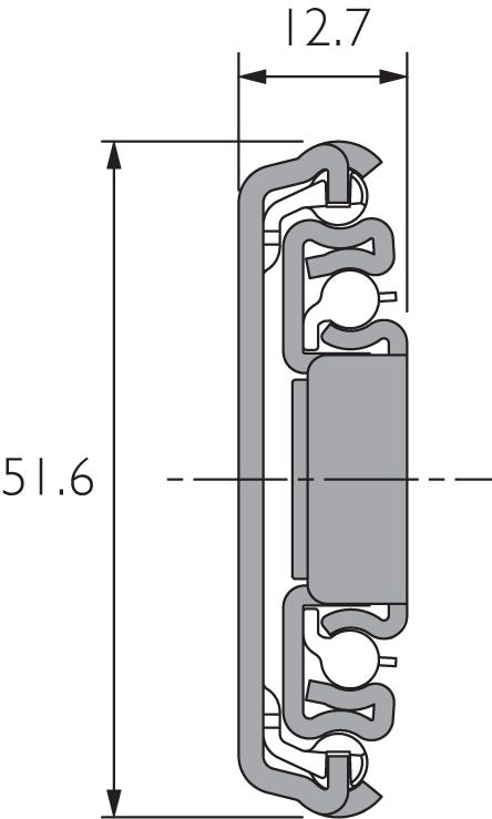 Stainless Steel Slide with Lock-Out & Disconnect DS3557