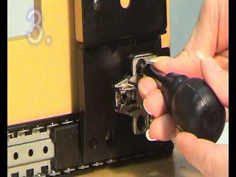 Guía de puerta corredera giratoria de servicio ligero DB1234
