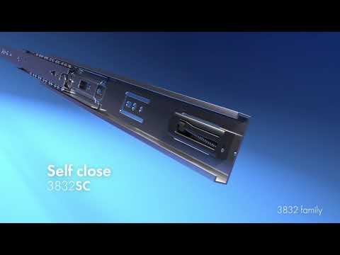 Soft Close Drawer Slide Black DB3832-EC-B
