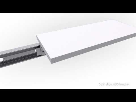 Clip-On Bracket Black DB633xx for Telescopic Slides