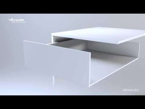 Guía de cajón de cierre automático DZ3832-SC